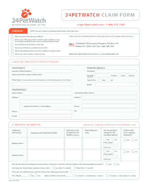2013 2018 form 24petwatch claim form fill online