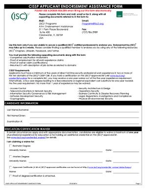 cissp endorsement resume sample