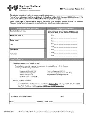 Blue Cross Blue Shield Of Louisiana Trading Partner Enrollment ...