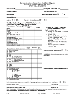 Early Head Start Epsdt Form - Fill Online, Printable, Fillable ...