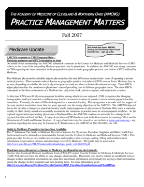 PRACTICE MANAGEMENT MATTERS - The Academy of Medicine