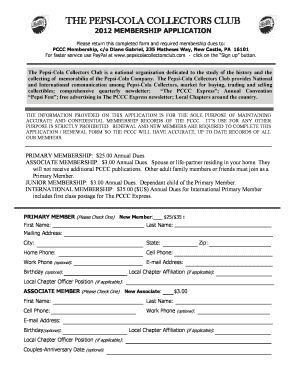 Pepsi Application Form - Fill Online, Printable, Fillable