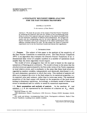 A stochastic roundoff error analysis for the fast fourier transform - ams