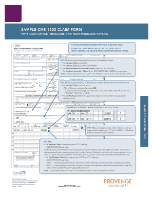 SAMPLE CMS-1500 CLAIM FORM - Provenge.com