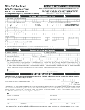 Grant Verification Form - Fill Online, Printable, Fillable, Blank ...