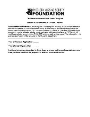 Cover Letter For A Grant from www.pdffiller.com