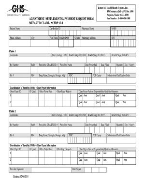 Printable Ncpdp Manual Claim Form - Fill Online, Printable ...