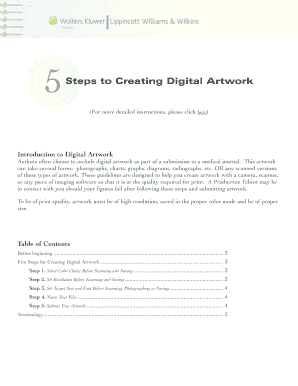 5 steps to creating digital artwork pdf fill online printable