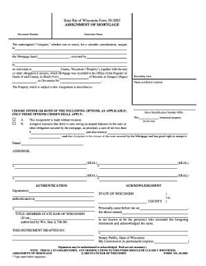 Captivating Wisconsin Assignment Of Mortgage Form
