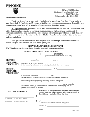 Editable Irrevocable Stock Power Form - Fill Online, Printable ...