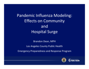 Pandemic Influenza Modeling - California Department of Public Health - cdph ca