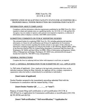 Elpaso Electric Ferc Form 556 - Fill Online, Printable, Fillable ...