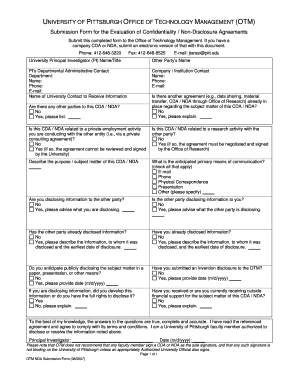 confidential agreement form
