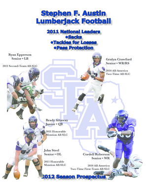 Stephen F. Austin Lumberjack Football 2011 National Leaders