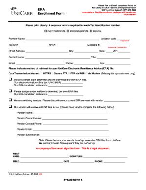 Unicare Eft Enrollment Form - Fill Online, Printable, Fillable ...