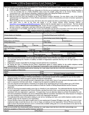 Verizon Assumption Of Liability Form - Fill Online, Printable ...