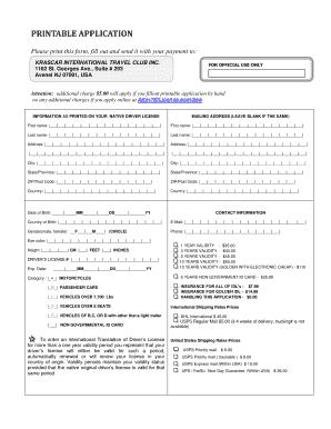 International Driving Permit Pdf - Fill Online, Printable