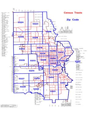 Fillable Online city milwaukee Census Tracts Zip Code ZIP