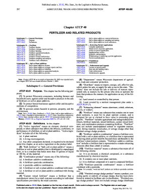 Fillable online docs legis wisconsin chapter atcp 80 of - Wisconsin legislative reference bureau ...