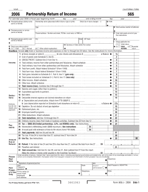 Form 565 Instructions 2014 - Fill Online, Printable, Fillable ...