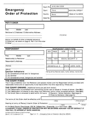 Illinois Order Of Protection Form - Fill Online, Printable ...