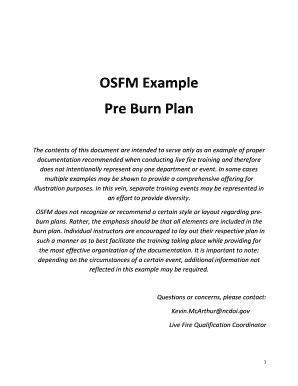 OSFM Example Pre Burn Plan - North Carolina Department of ...