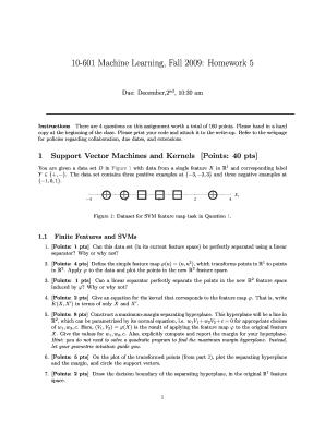 Fillable Online cs cmu 10-601 Machine Learning, Fall 2009