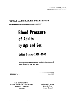 Vital and Health Statistics; Series 11, No. 4 (6/64). Blood Pressure of Adults by Age and Sex: United States, 1960-1962 - cdc