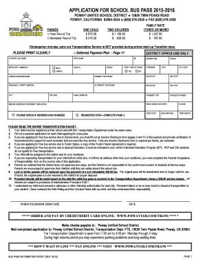 surfside school bus pass application
