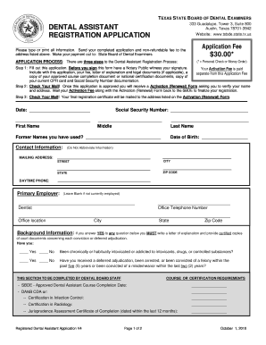 6070989 Dental Istant Job Description Application Form on