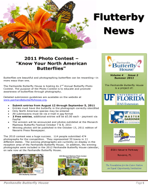 butterfly house powerpoint template form