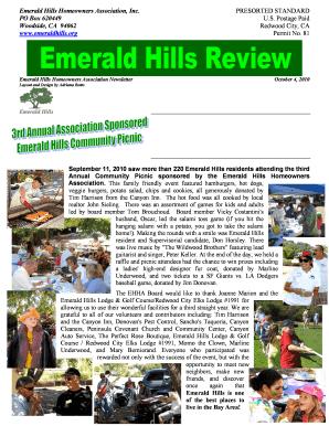 Emerald Hills Homeowners Association Redwood City - Fill Online