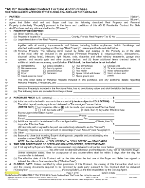 Bill Of Sale Form Florida Offer To Purchase Real Estate Form ...
