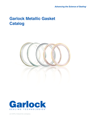 Fillable Online Garlock Metallic Gasket Catalog - Beacon