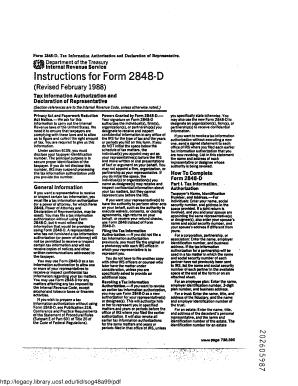 Form 2848 D - Fill Online, Printable, Fillable, Blank | PDFfiller
