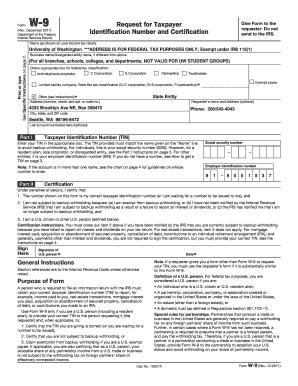 University Of Washington W 9 Fill Online Printable