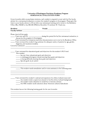 Semiannual Evaluation Form - Psychiatry Residency - University of ...