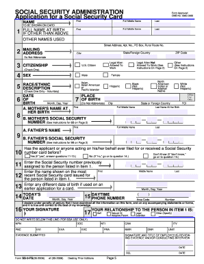 online application for student social security card form 5 fs