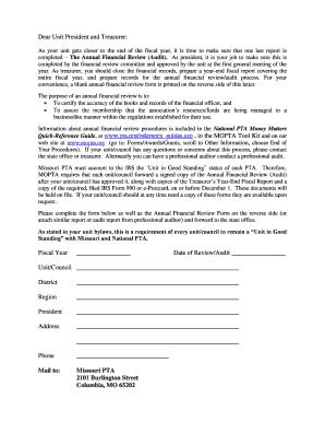 Pta Missouri Audit Form - Fill Online, Printable, Fillable, Blank ...