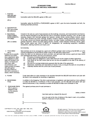 purchase and sale agreement massachusetts template  Sample Purchase And Sale Agreement Forms and Templates - Fillable ...