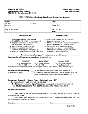 Academic fillable template 2013 form