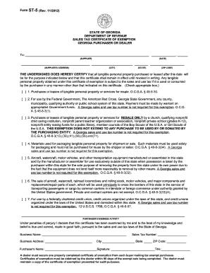 2012 Form GA DoR ST-5 Fill Online, Printable, Fillable, Blank ...