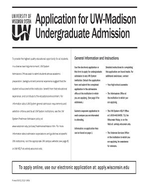 Uw Madison Application >> Fillable Online Apply Wisconsin Application For Uw Madison