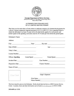 2013 Form Ga Dds 665b Fill Online Printable Fillable