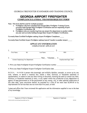 Fillable Online gfstconline Georgia Airport Firefighter (ARFF ...