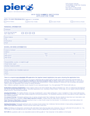 Download Application (pdf editable form) - Yale University - yale