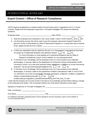 H-1B Department Form - Office of International Affairs - The Ohio ... - oia osu