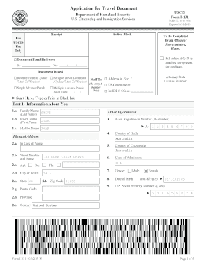 I-131, Application for Travel Document - VisaJourney