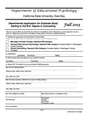 Edit fill out print download online templates in word pdf master s of science in counseling department application forms and procedures fall 2013 educational psychology department maxwellsz