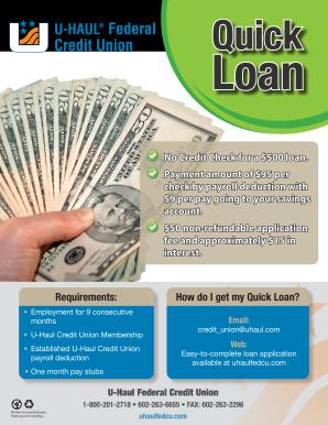 Uhaul Credit Union Loan Application Fill Online Printable